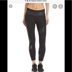 90 degree detail black leggings